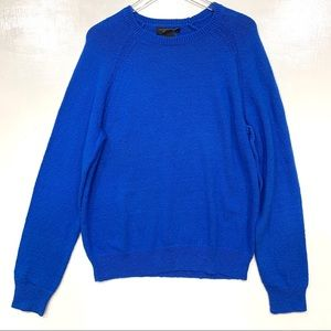 Bloomingdales Crew Neck Pullover Sweater L Blue